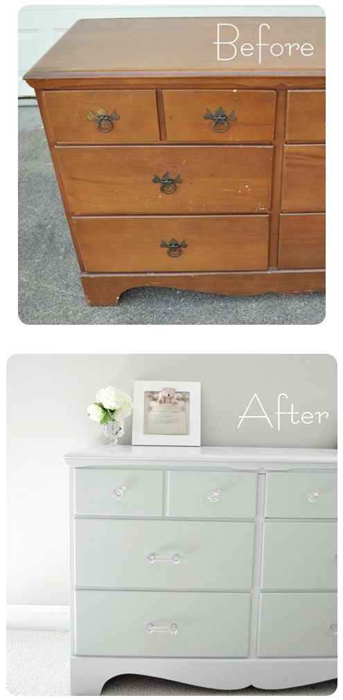 How To Paint Old Furniture. This Is Literally One Of The Easiest To Follow  Articles
