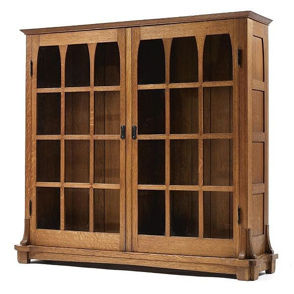 Gustav Stickley An Important And Rare Bookcase Model No
