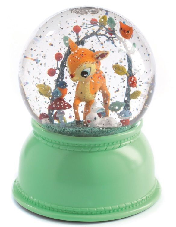 A snow globe & lamp fawn by DJECO pour BB3