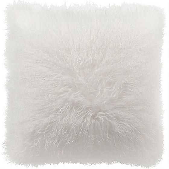 Mongolian Square Toss Cushion - White