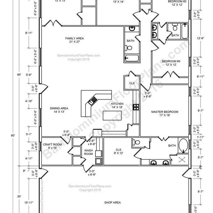 Pin By Angie Floyd On Plans 4 Home Sweet Home Barndominium Floor Plans Barn House Plans House Floor Plans