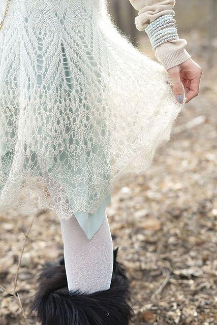 Ravelry: #07 Mohair Lace Dress pattern by Laura Zukaite