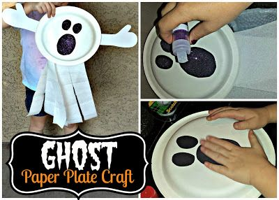 Diy ghost paper plate kid 39 s craft fun halloween art - Sassydeals com ...