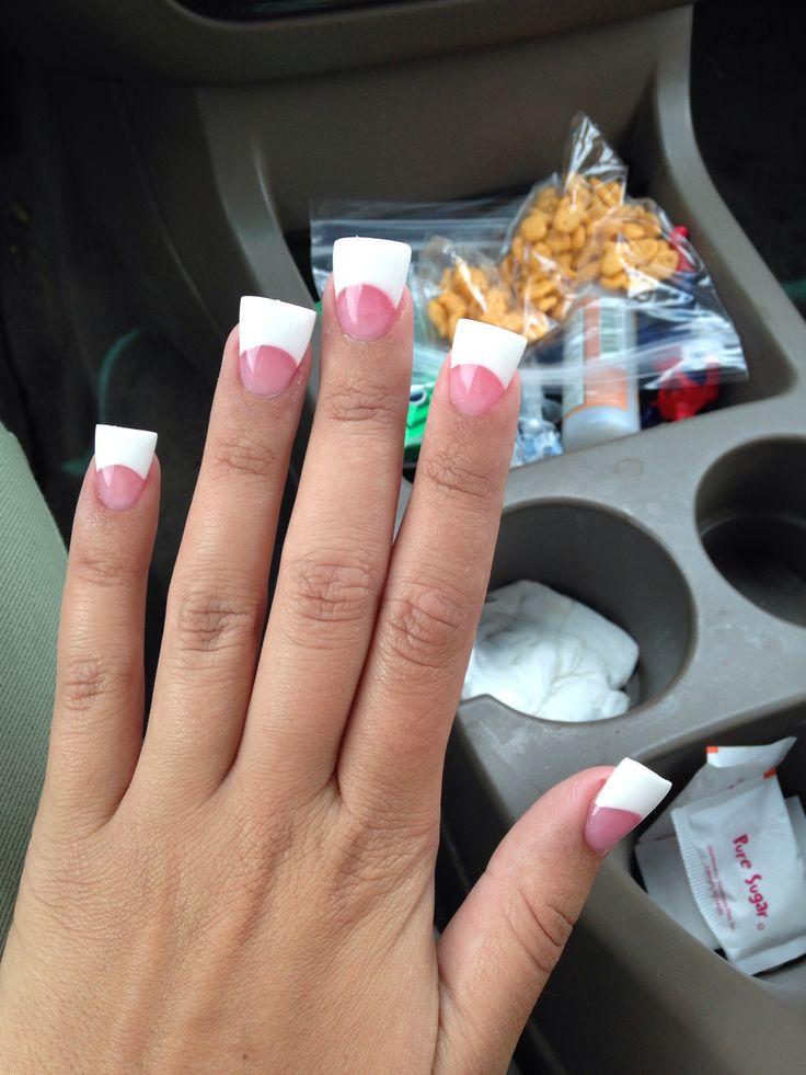 I ❤️ my nails #duckfeet #pinkandwhite