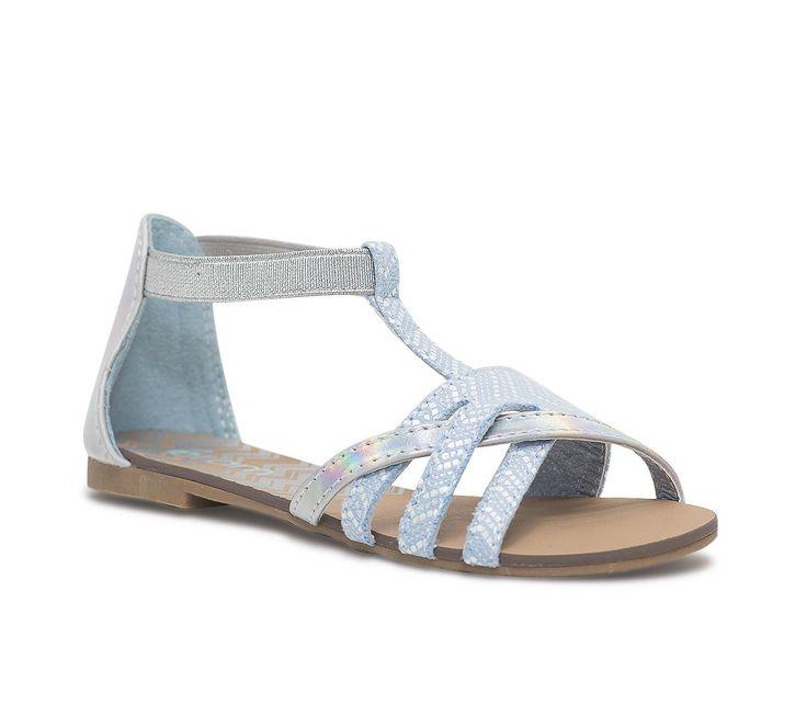Sandale bleu ciel et iridescent - Chaussures fille - Chaussures enfant