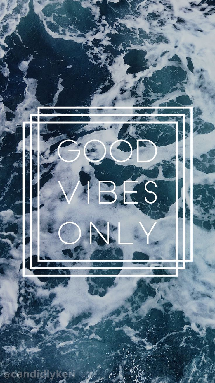 Good Vibes Only ocean waves wallpaper you can download for free on the blog! For any device; mobile, desktop, iphone, android!