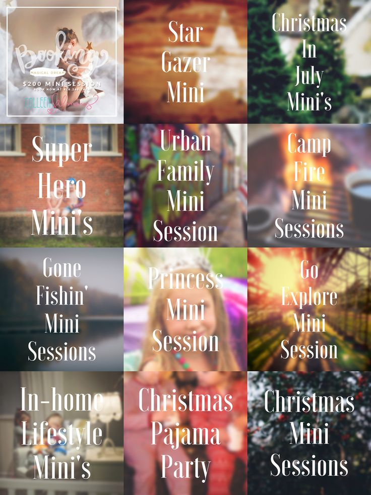 MINI SESSION BOGO 50% OFF SALE! That's right! — if you buy one mini session, I'll give you the second one for 50% OFF! I've got an entire calendar year loaded with some really great mini sessions, including: Super Hero, Christmas in July, Gone Fishin' and Camp Fire minis! Want in? Head over to the …