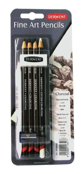 Derwent Charcoal Mixed Media, $25.95 (http://www.artshedonline.com.au/derwent-charcoal-mixed-media/)