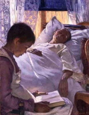 'Reflection in Blue' 1887 by Eva Bonnier (1857 - 1909)