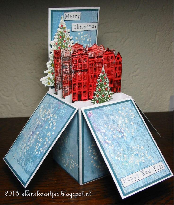 Ellen's kaartjes: Merry Christmas box card