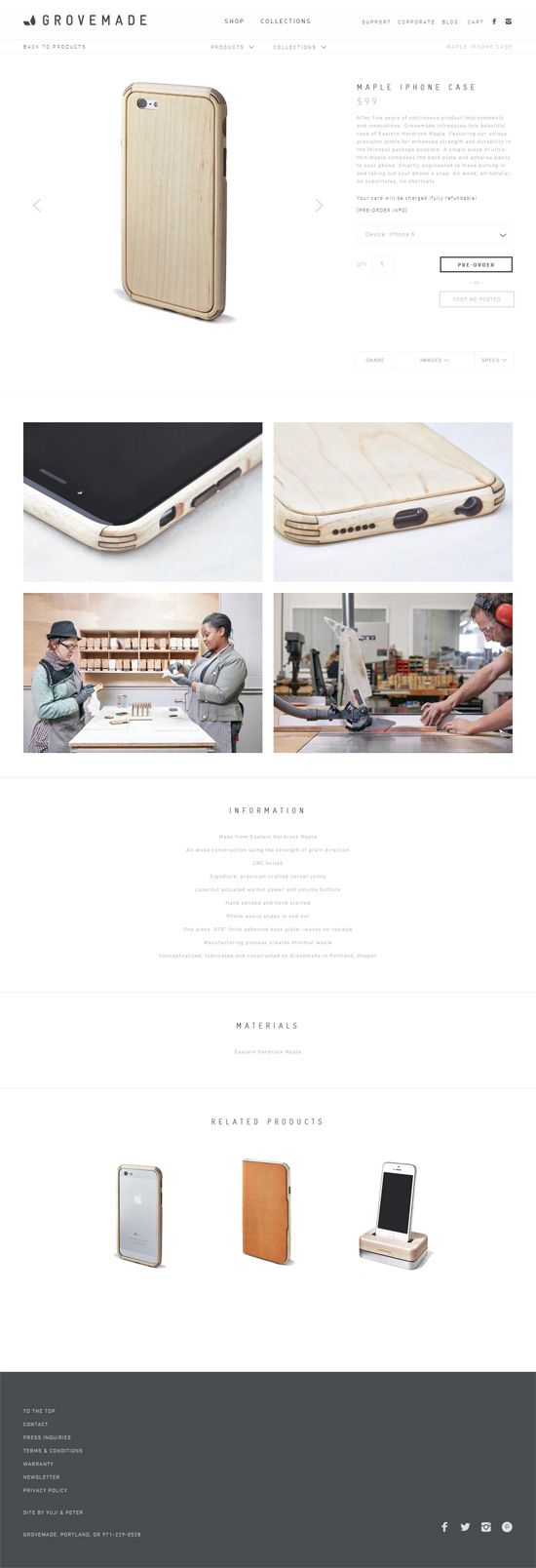 Product page design: Grovemade