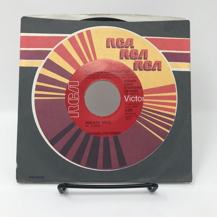 """RCA Label 45 rpm 7"""" Record The Hues Corporation Rockin' Soul & Go To The Poet #Soul"""