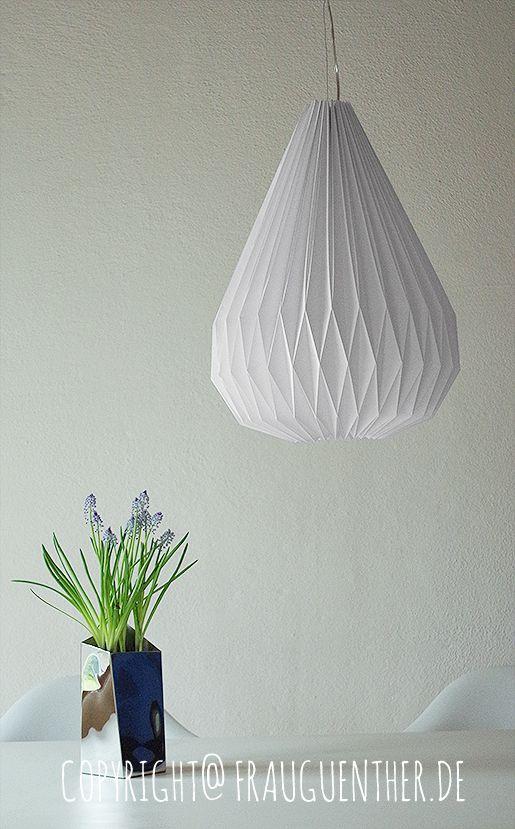 Lampe de papier origami bricolage 4, Origami lampe 4, des instructions pliantes, des instructions de pliage, pli, plis de la lampe de papier, abat-jour plissé, Mme Günther, tutoriel, instructions, goutte, goutte, le diamant, la lampe de l'origami