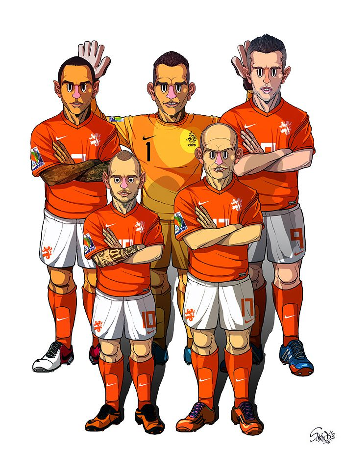 [2014 World cup Edition] B team : Netherlands by sakiroo.deviantart.com on @deviantART