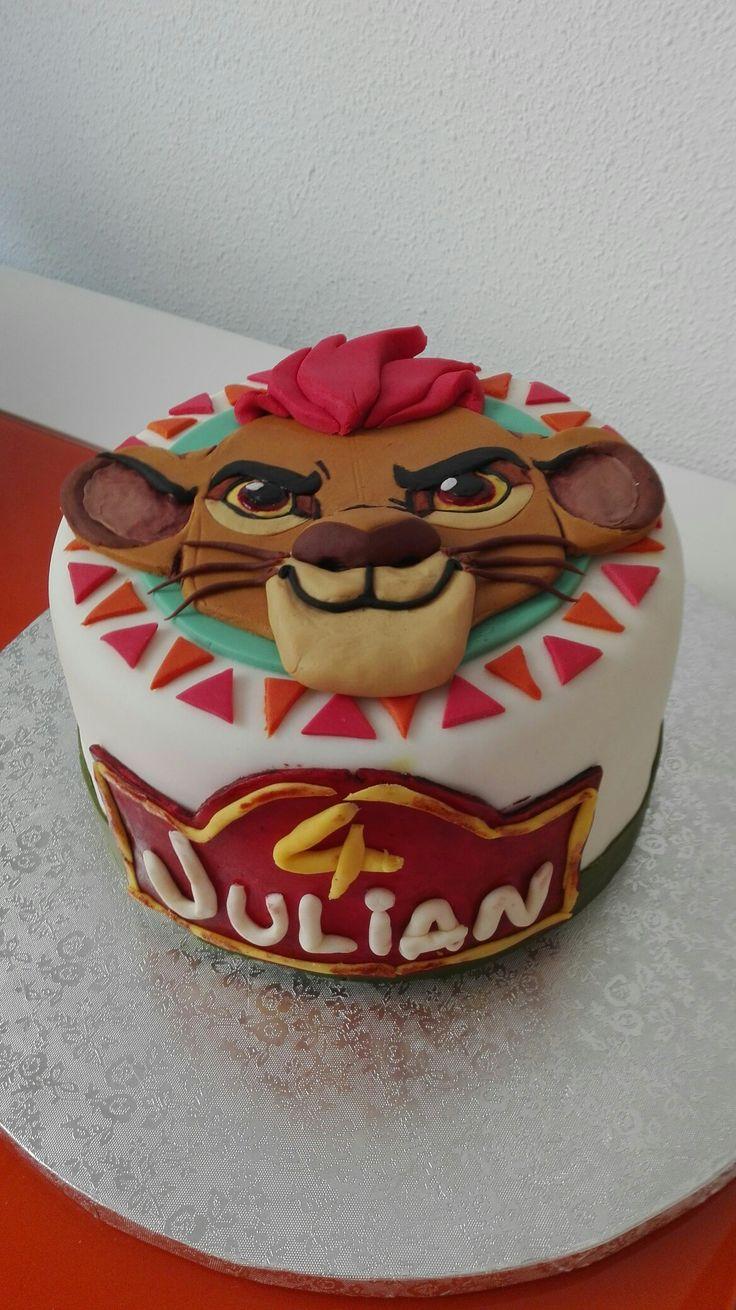 Fondant la Guardia del león cake