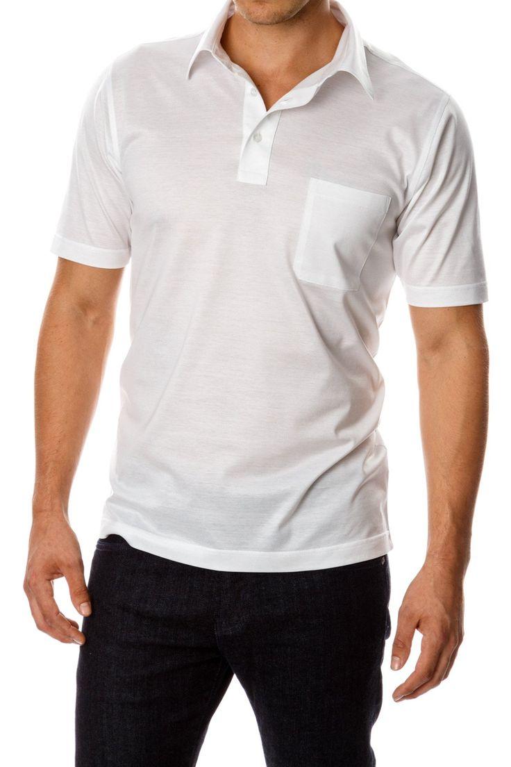 David August Mercerized Cotton White Polo
