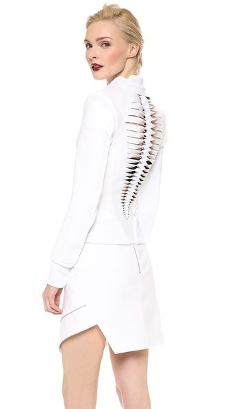 This Dion Lee Braided Back Leather Jacket is BEYOND .... http://rstyle.me/n/ifkuemnje