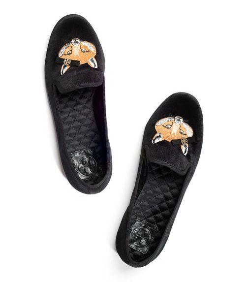Velvet Fox Loafer | Womens Flats | ToryBurch.com