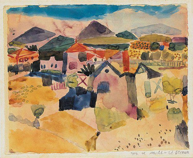 Paul Klee - View of Saint Germain near Tunis (1914) - Paul Klee — Wikipédia