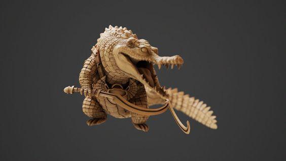 Crocodile Sculpt: