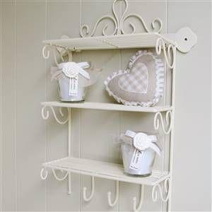 Cream metal triple wall shelf | Bliss and Bloom Ltd
