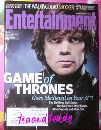 Entertainment Weekly Magazine March 23, 2012 - Game Of Thrones / Peter Dinklage Cover (Entertainment Weekly Magazine): Entertainment Weekly Magazine: Amazon.com: Books