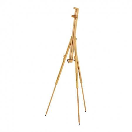 The Mabef Large Basic Field Easel M-29 is a light-weight folding field easel constructed of oiled beech wood. The painting angle is quickly and easily adjusted for either oil or watercolor painting.