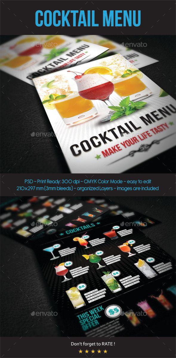 452 best menuu0027s images on Pinterest Food menu template, Print - drinks menu template