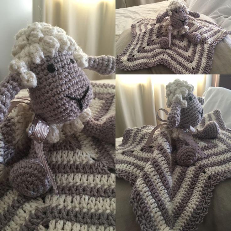 Manta apego crochet ovejita