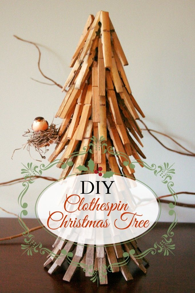 DIY Clothespin Christmas tree tutorial! #clothespin #Christmas #crafts