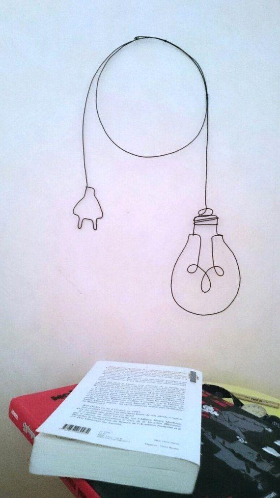 Wandering Wire Wall lamp metal dangle earrings, wa…