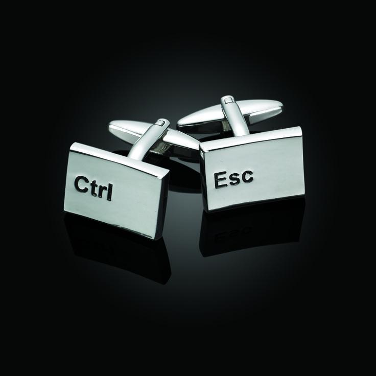 Esc and Cntrl Button Cufflinks