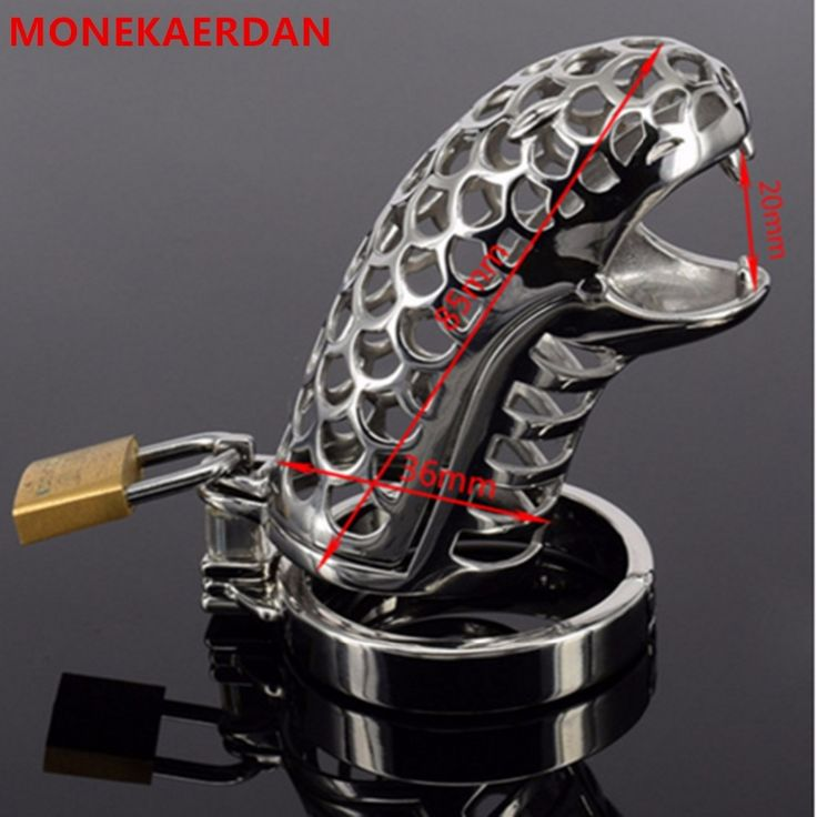 26.99$  Watch here - http://ali23y.shopchina.info/1/go.php?t=32668160738 - Stainless Steel Metal Cock Rings Penis Cage Scrotum Bondage Slave Male Chastity Device , Fetish Erotic Sex Game Toys For Men  #aliexpressideas