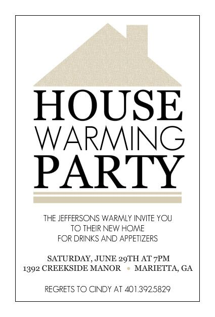 Housewarming party invite templates stopboris Images