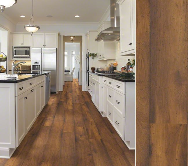 white kitchen laminate flooring hgtv home flooring by shaw laminate in a hickory visual 1389
