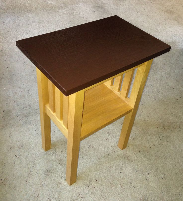 Easy DIY Rescue Of A Damaged Side Table