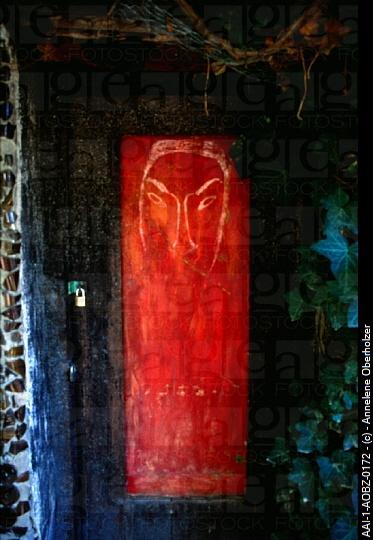Door, The Owl House, Nieu-Bethesda, Eastern Cape, South Africa