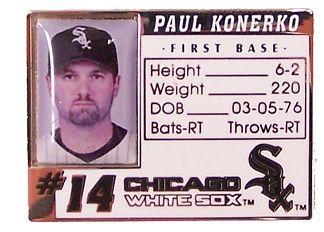 Paul Konerko Photo ID Pin