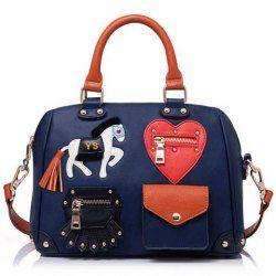 Preppy Women's Crossbody Bag With Pony Print and Zipper Design http://www.sammydress.com/product877606.html