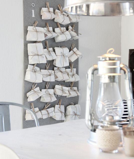 DIY advent calendar (Kjerstis Lykke, via French by design) – Husligheter.se