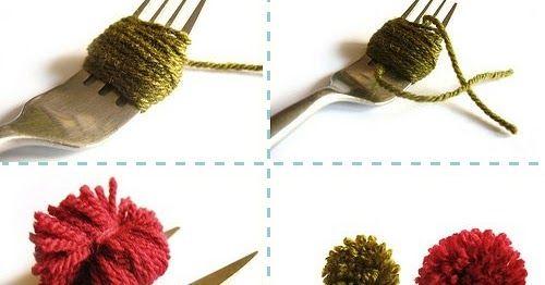 Oieeeeeeee!!!     Pergunta para as amigas crafteiras de plantão: você sabe fazer um pompom super perfeitinho?   Vamos ensinar hoje a fazer ...
