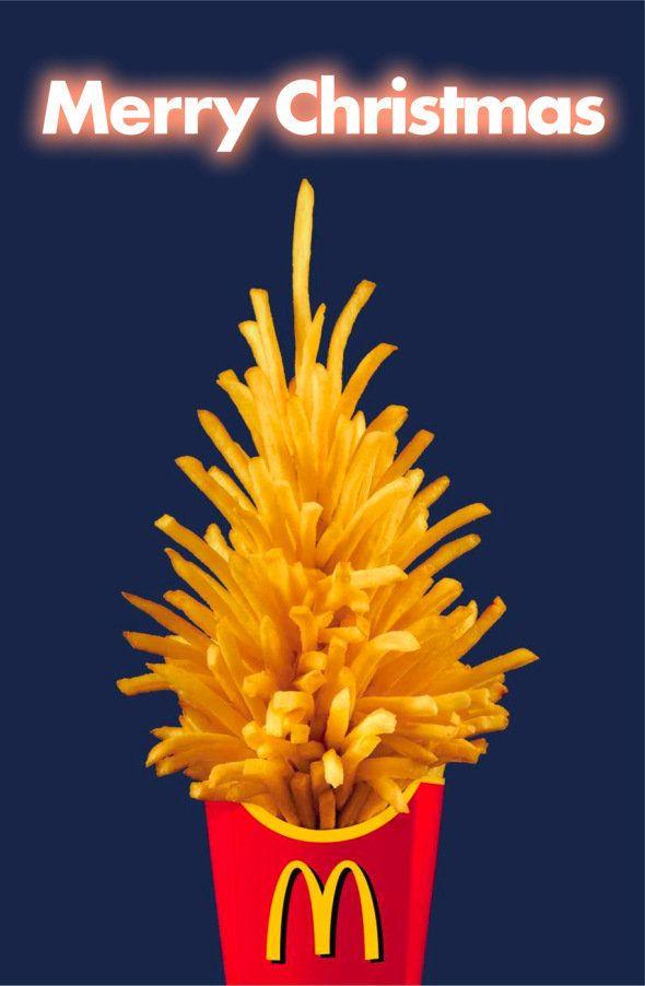 اعلانات مطبوعة لأعياد الميلاد ماكدونالدز اعلان تسويق Christmas Advertising Christmas Ad Advertising Design