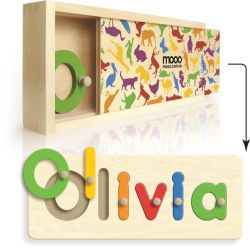 Love this... personalized puzzles for babies with unique baby names.