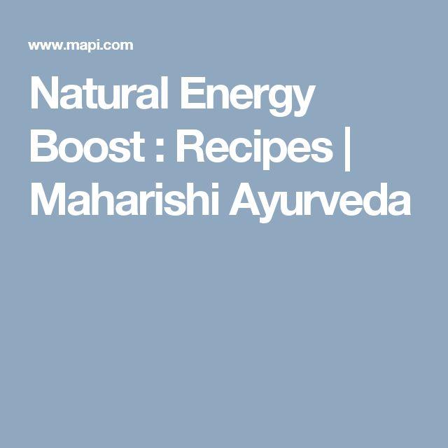Natural Energy Boost : Recipes | Maharishi Ayurveda