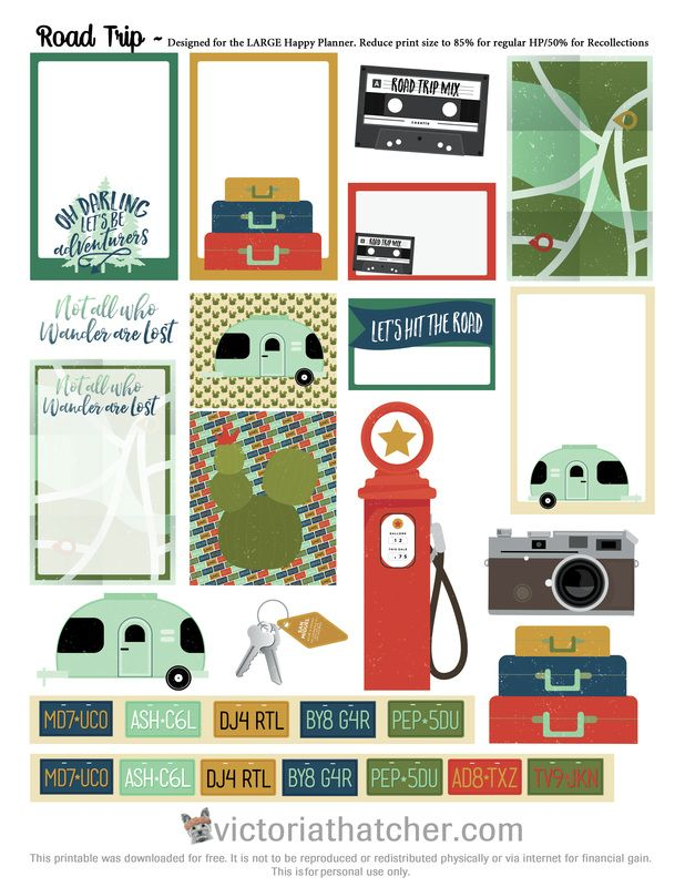 Free Road Trip Planner Printable | Victoria Thatcher