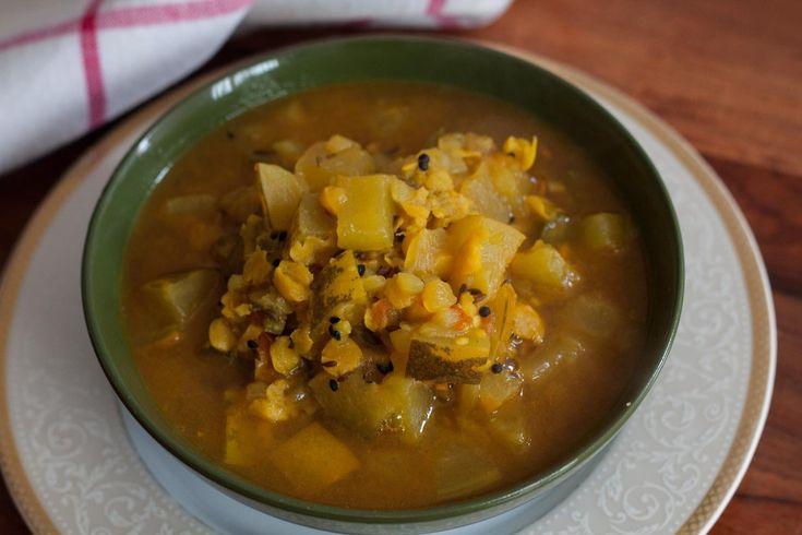 Mangalore Cucumber Chana Dal Subzi Recipe