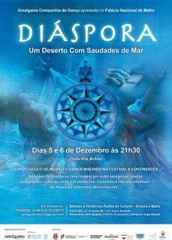 """Amalgama Companhia de Dança apresenta """"Diáspora"""" no Palácio Nacional de Mafra, 5 e 6 dezembro"""