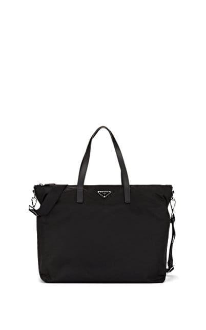 1f0ce82f6fce Prada Men s Leather-Trimmed Weekender Bag - Black in 2019