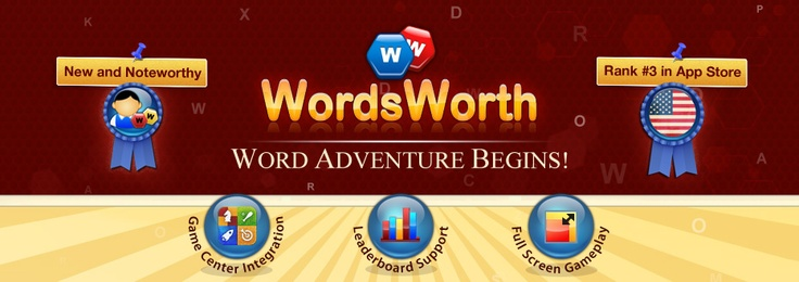 WordsWorth on Mac! Ranked #1 among Top Paid Word Games. Sporting Mountain Lion features like Game Center and Push Notifications, WordsWorth lets you play word games with your friends on iOS and Android devices. Over 400000 players are addicted to the WordsWorth gameplay experience of tracing words, gaining Vocab Power & aiming to become the modern day 'WordsWorth'!