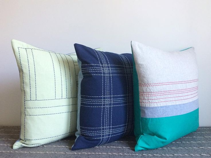 The Latest Trio/Handmade Pillows Featuring Hand-Stitching Details.